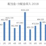 2018年12月の配当金・分配金収入は105,320円。年間100万円に達しました!
