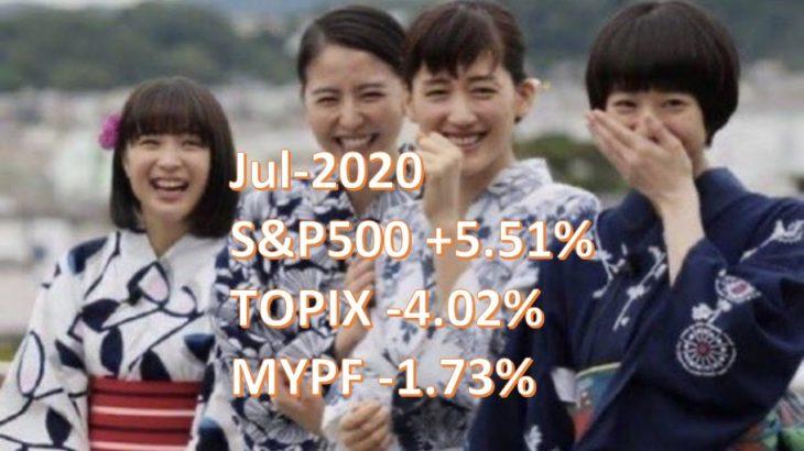 2020年7月 月次運用レポート、ブフッあの人「資産運用」してるくせに今月もおかね減ってるんだってww